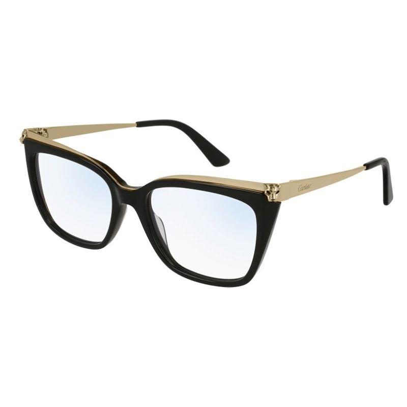 lunettes Cartier or et noir